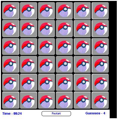 Ball Game : Pokemon Memory