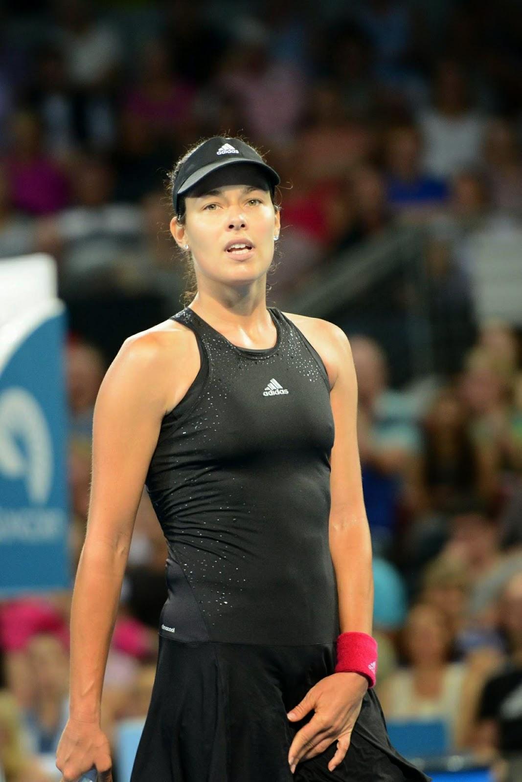 صور لاعبة التنس الصربية آنا ايفانوفيتش خلال بطولة بريسبان الدولية نصف النهائي