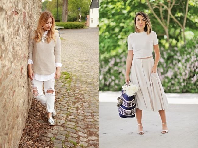 Heller Beige-Look, bright Look, White-beige Look, Jill Pille, Stephanie Sterjovski