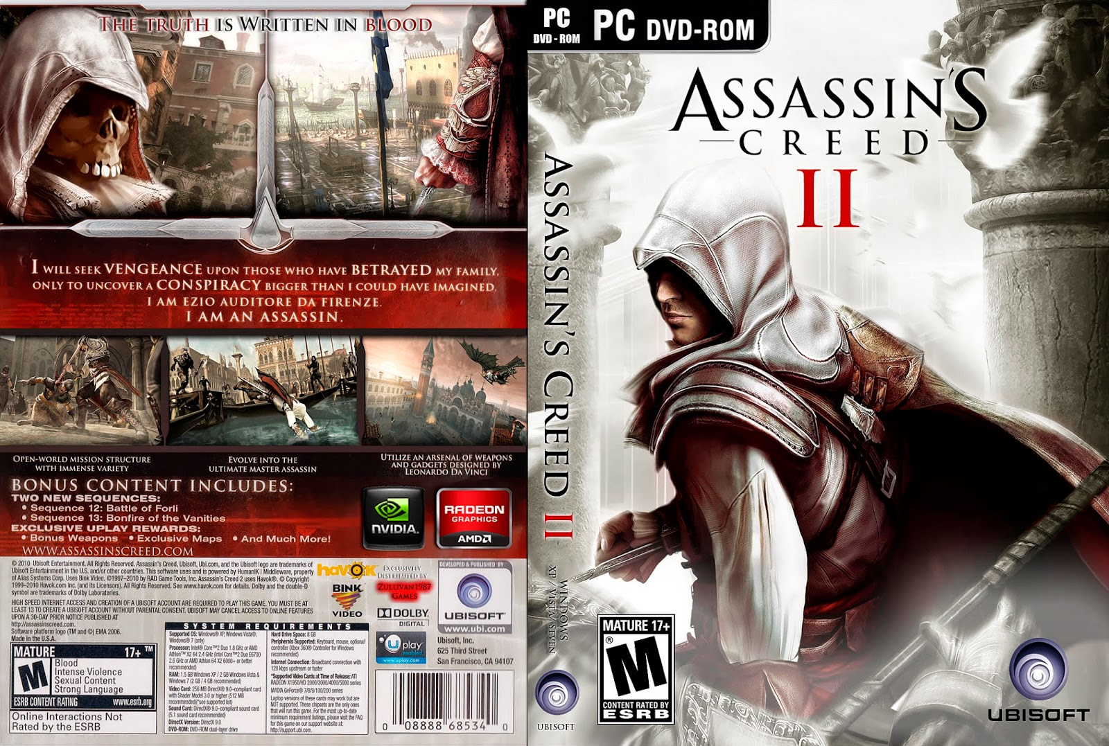 تحميل لعبة Assassins Creed 2 برابط واحد مباشر