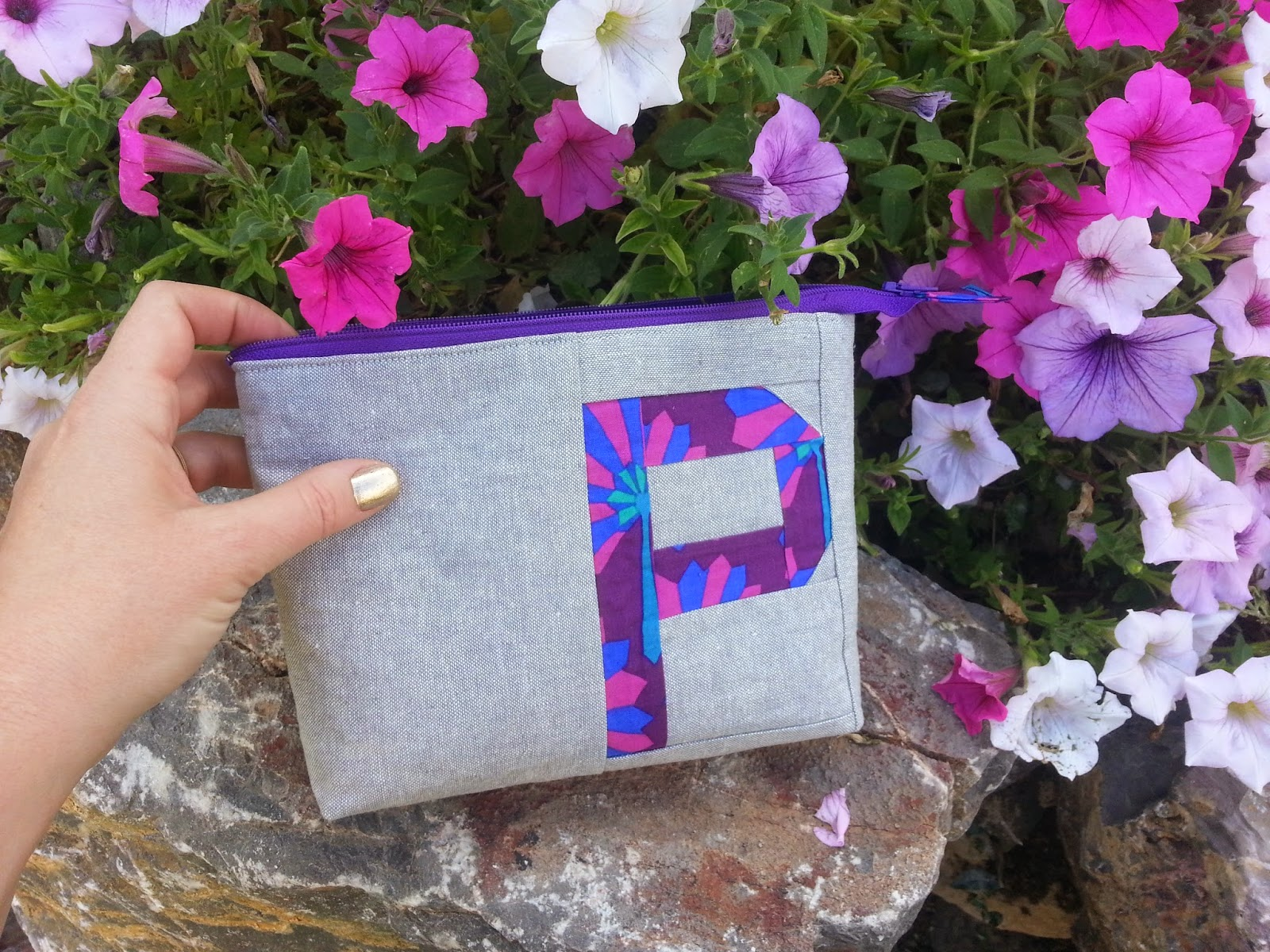 Petite Purple Zippered Pouch