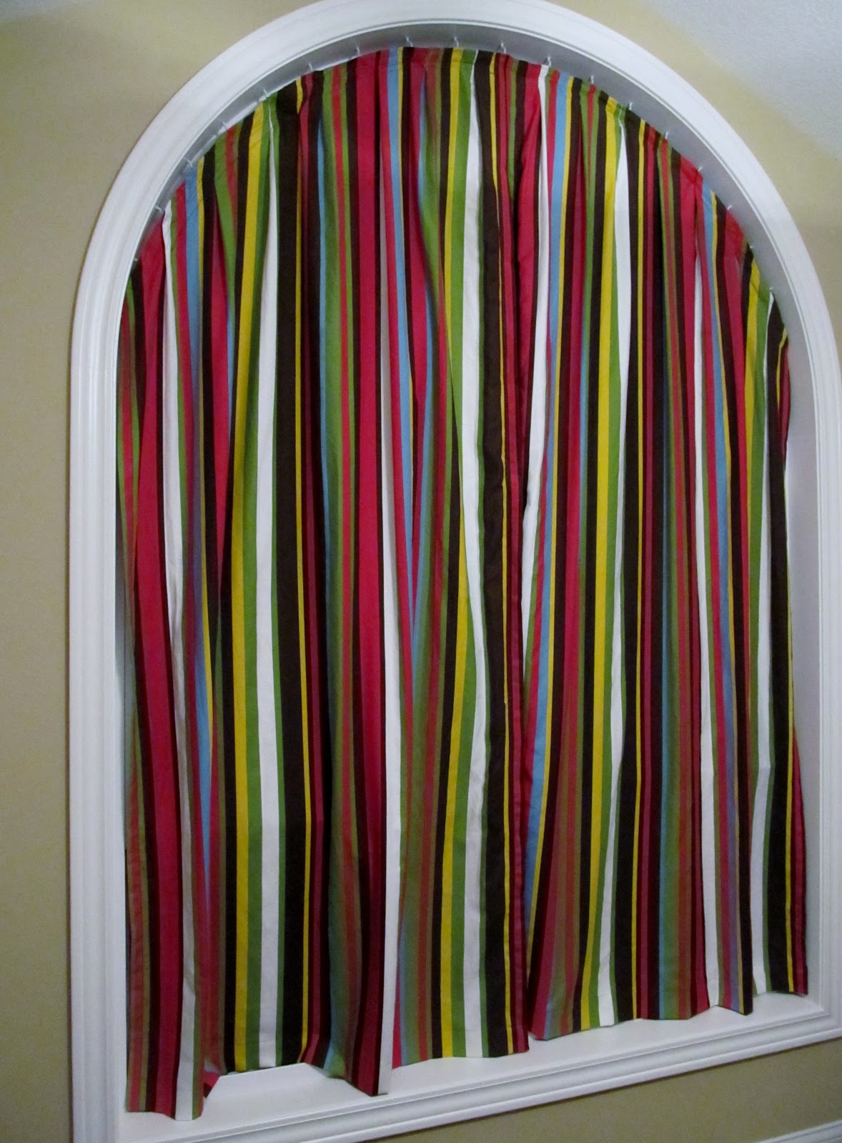 Curtains for half moon windows - Diy Curtains For An Arch Window More Details