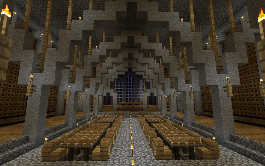 The minecraft castle magnificent medieval minecraft castle for Dining room designs minecraft