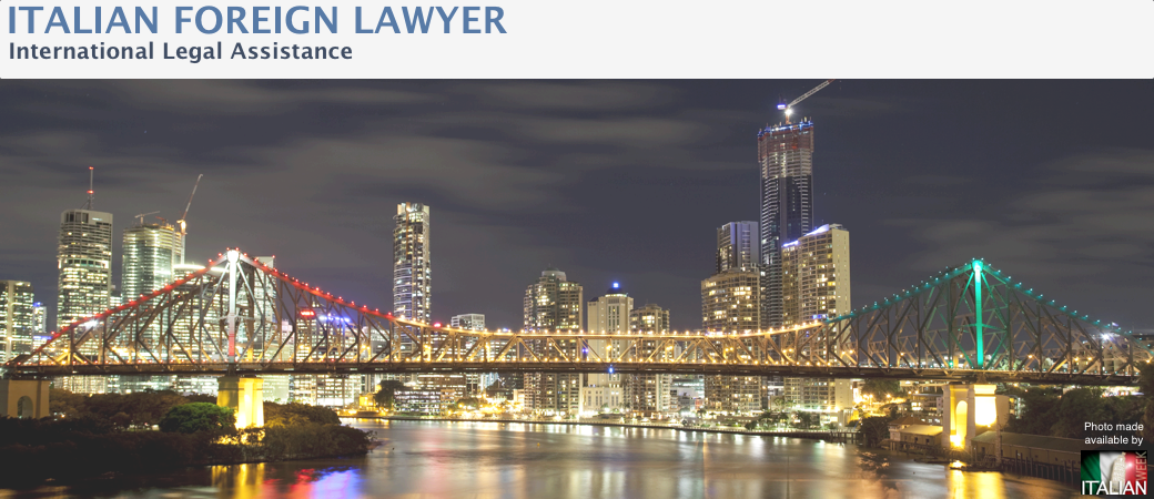 ITALIAN FOREIGN LAWYER<br>