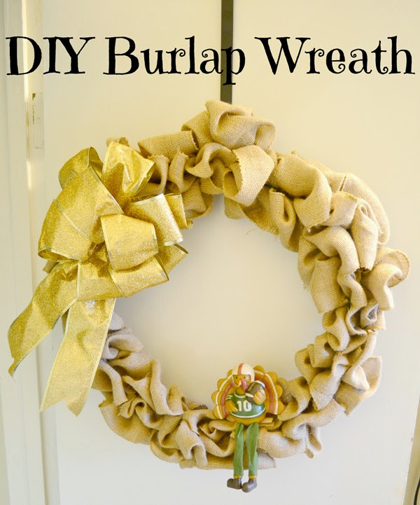 DIY Burlap wreath, thanksgiving wreath, fall wreath
