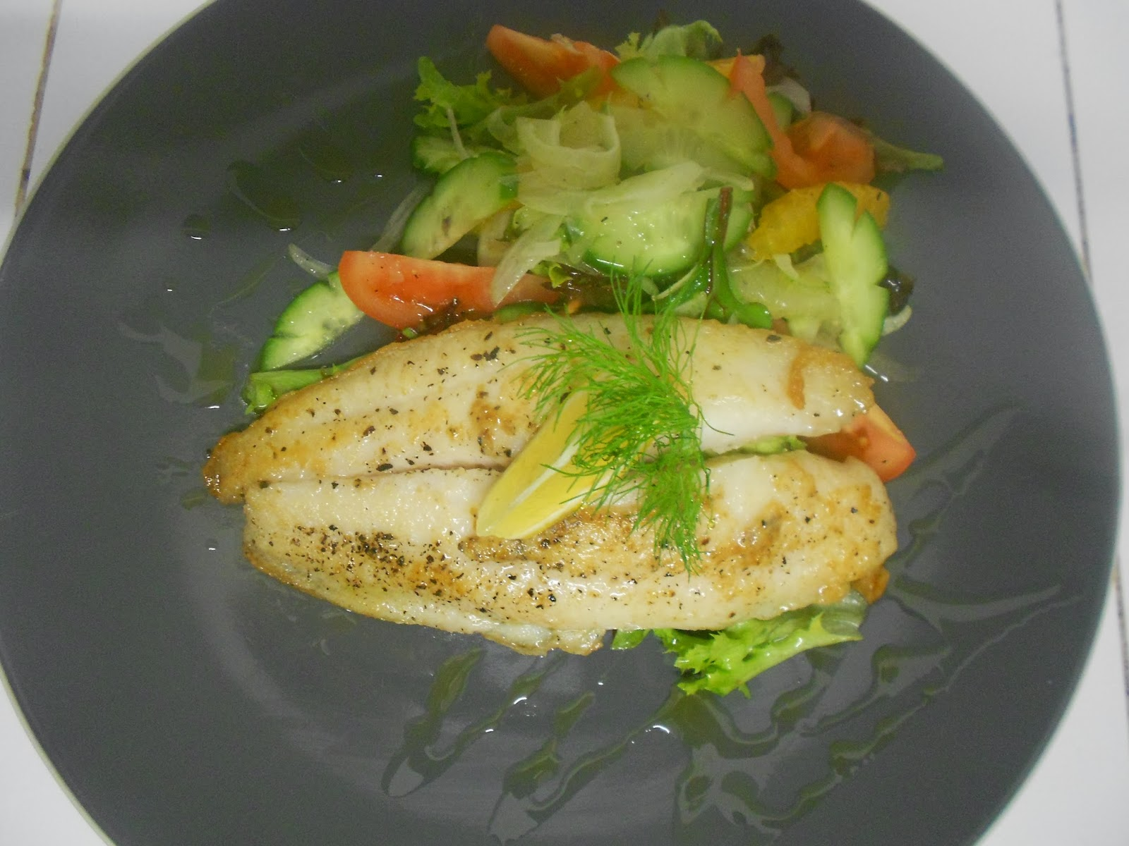 Mauritian modern delish and recipe fish fennel salad for Fish and salad