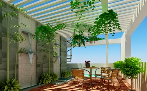 hanging trees in the terrace | Outdoor Furniture in Vietnam