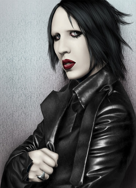 Marylin Manson, lebt,digital art
