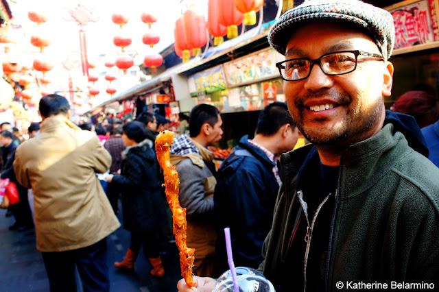 Prawns at Wangfujing Snack Street Beijing China