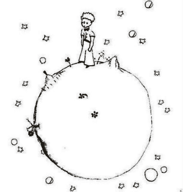 """Desenho """"O Pequeno Príncipe"""" para colorir"""