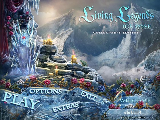 Living Legends: Ice Rose Collector's Edition Main Menu