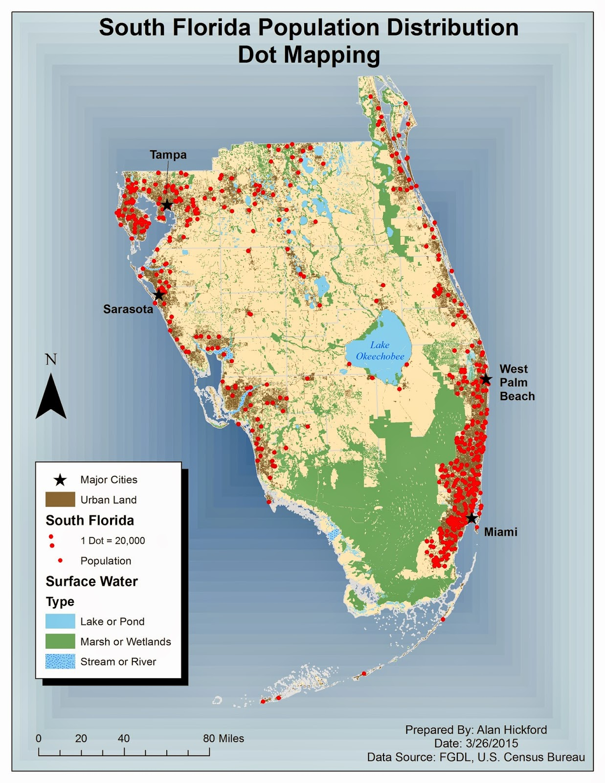 the overall background a nice gradient fill color which i feel helps make the map stand out below is my map of population density of south florida