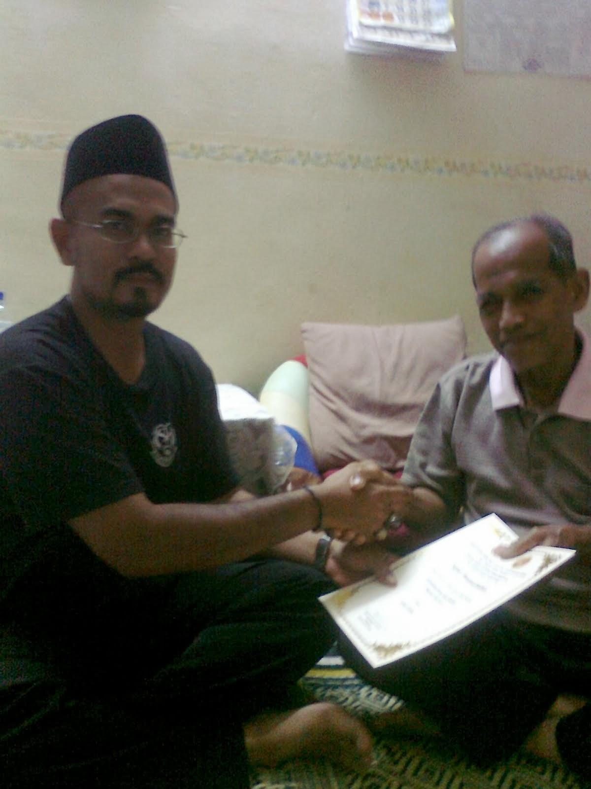 Terima ijazah Guru Utama Drpd Arwah Mantan Mahaguru Musa b M. Ali