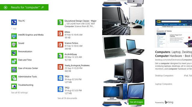 Để tìm kiếm tốt hơn và nhanh hơn trên Windows 8.1 5