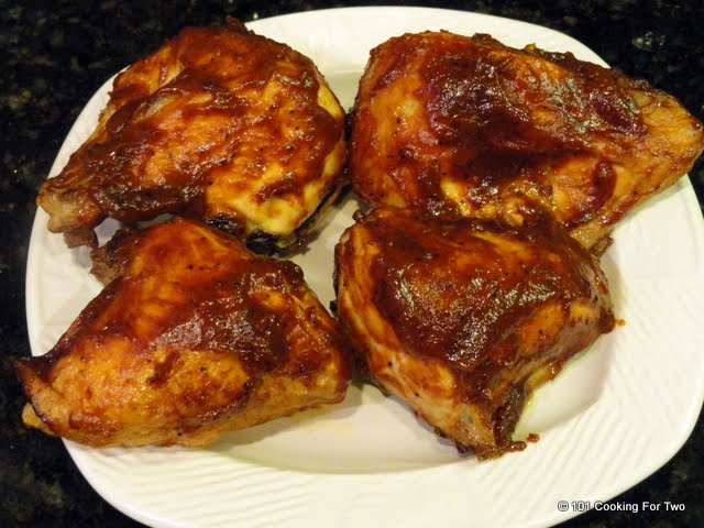 Simple Oven Baked BBQ Bone-in Skin-on (Split) Chicken Breast | 101 ...
