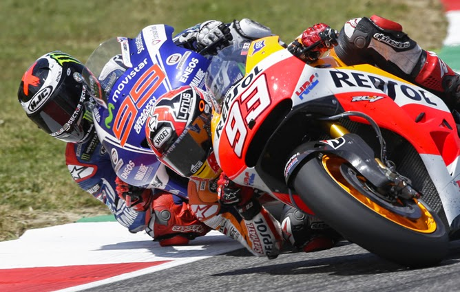Márquez vence a Lorenzo y ya suma seis triunfos seguidos