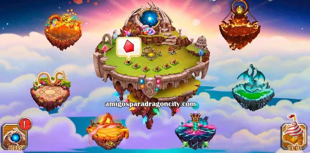 imagen del mundo ancestral de dragon city