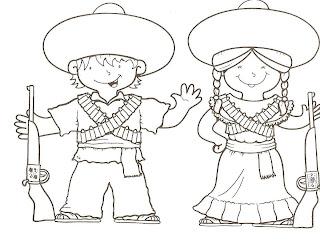 Dibujos de revolucionarios de la revolución mexicana para colorear