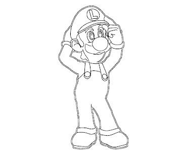 #22 Luigi Coloring Page