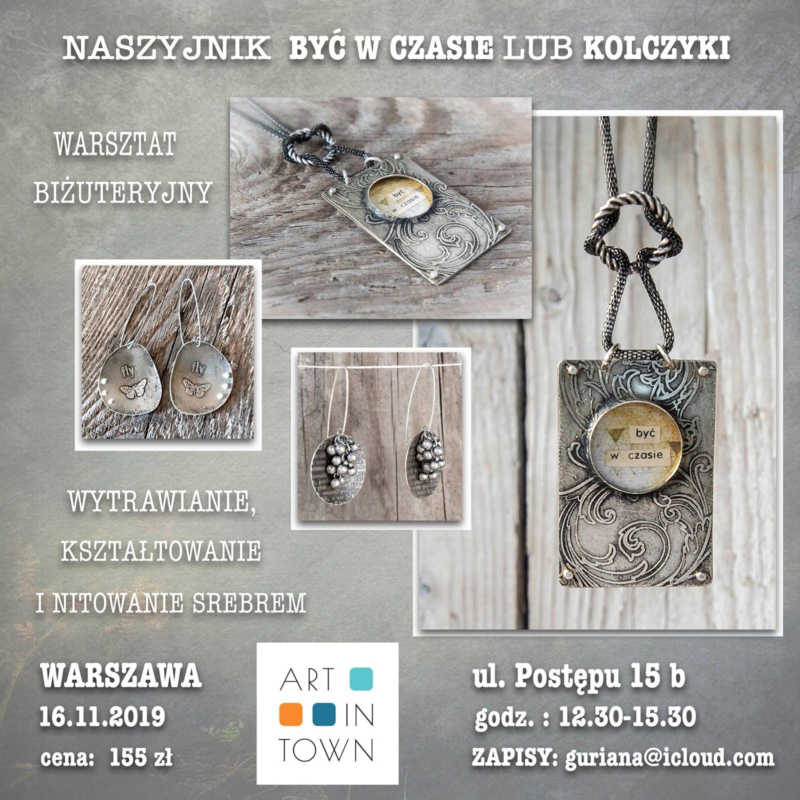 Art in Town - Warszawa - naszyjnik BYC W CZASIE lub KOLCZYKI