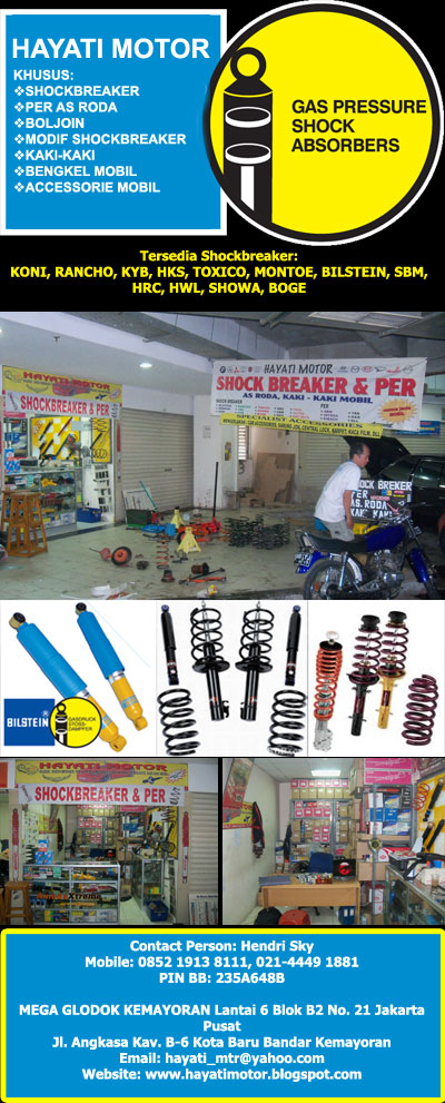 Bengkel Specialist Shockbreaker dan Kaki-kaki Mobil Jakarta