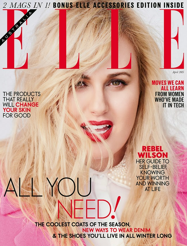 Actress @ Rebel Wilson by David Burton for Elle Australia, April 2015