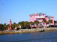 What you see!  A decorated pink house MUST have a pink lighthouse, must it not?