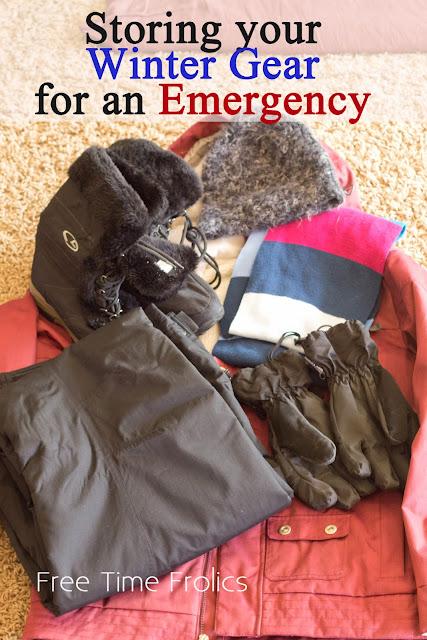 How to Organize and store your winter gear for an emergency via Freetimefrolics.com #preparedness