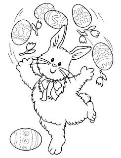 Risco para pintura de coelhinho da páscoa