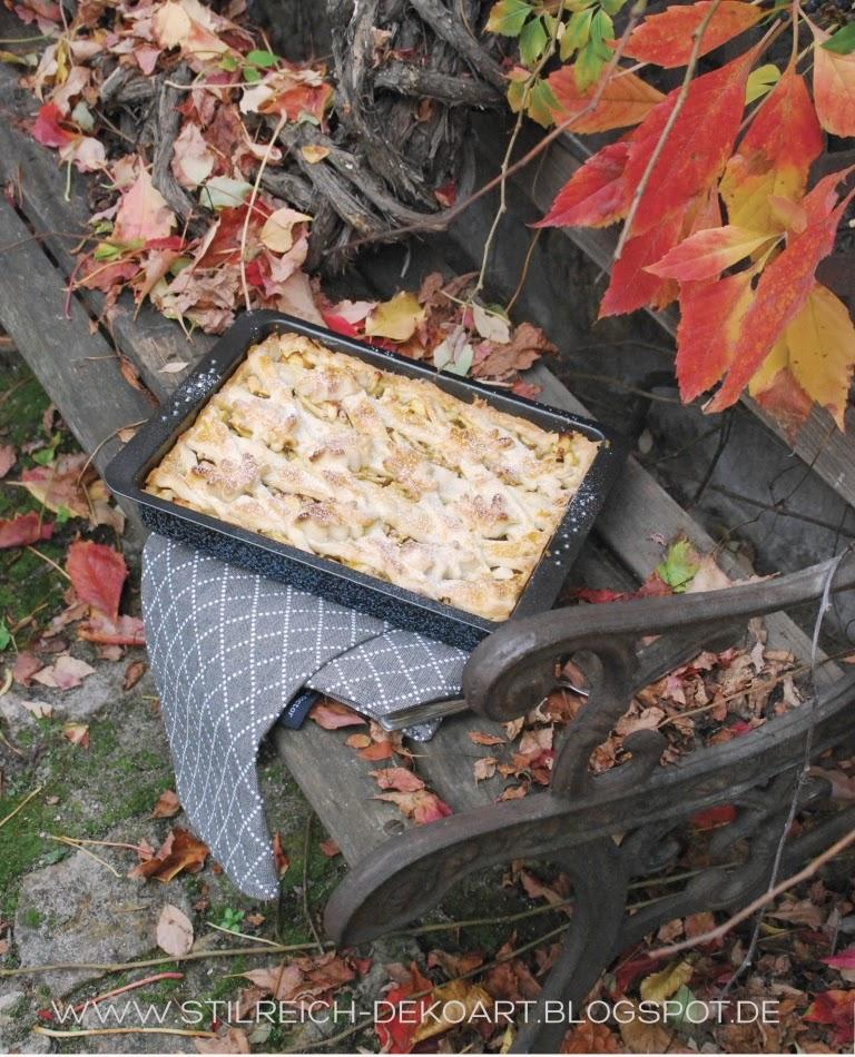 Herbstlicher apple pie und gr n gold grau s t i l r e i c h blog - Stilreich blog ...
