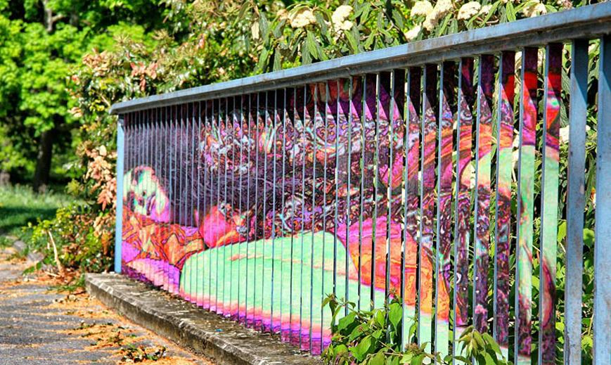 Seni Pagar Jalanan Yang Unik Dan Sangat Kreatif