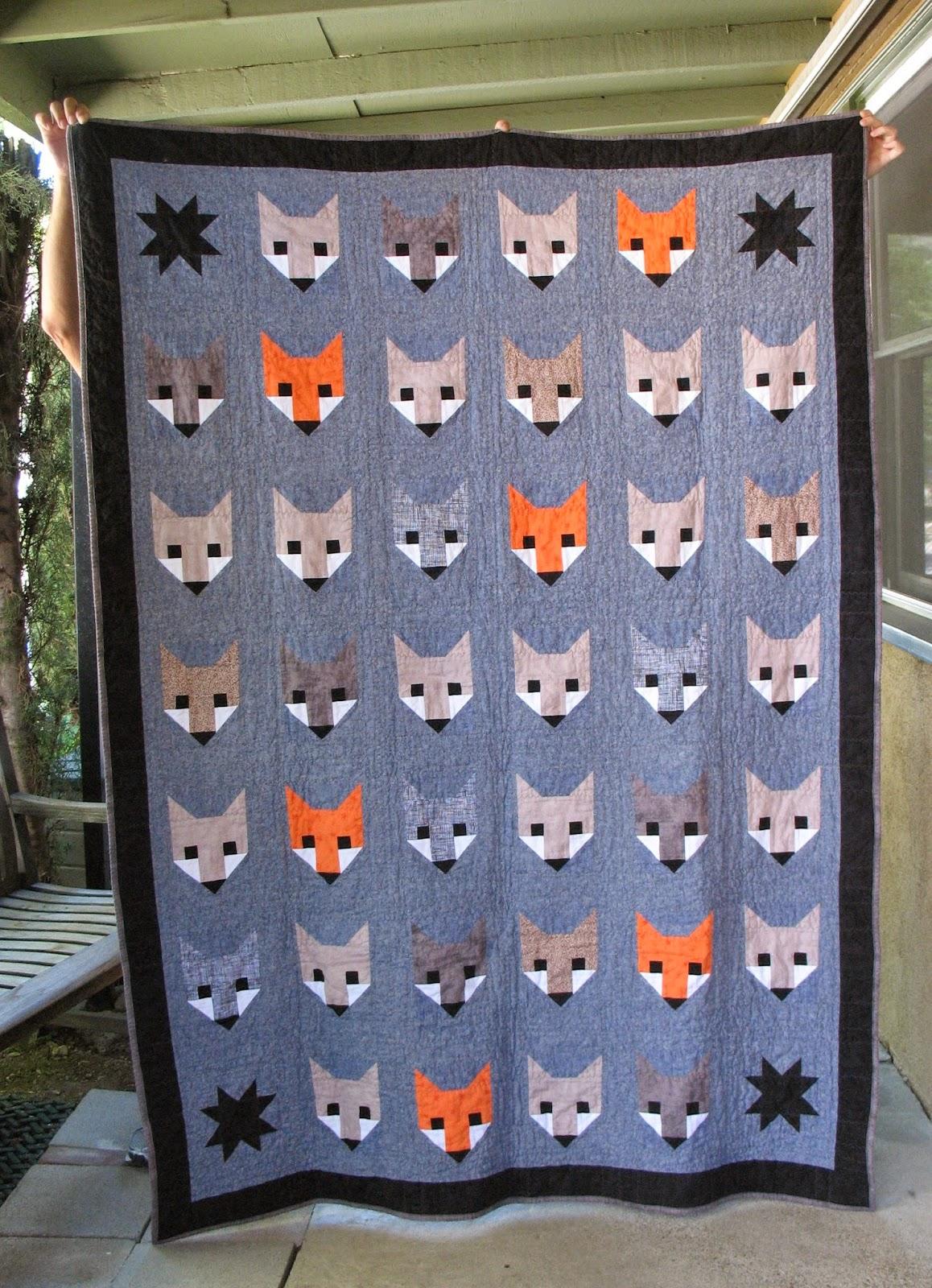 Ye Olde Sweatshop Fancy Fox Quilt 32