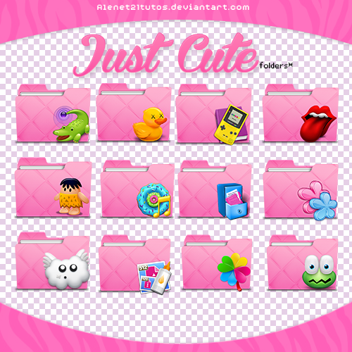 Girl desktop icons