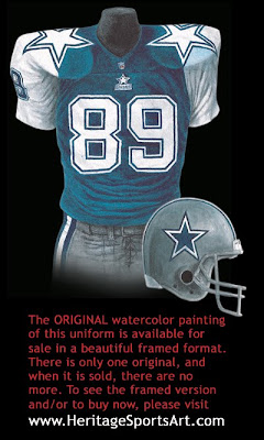 Dallas Cowboys 1995 uniform