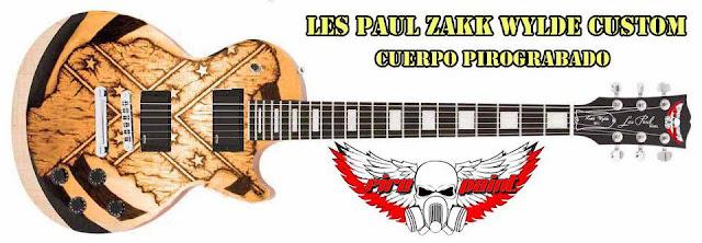 Guitarra Pirograbada