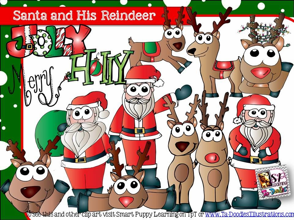 http://www.teacherspayteachers.com/Product/Santa-and-Reindeer-Color-Blackline-1505096