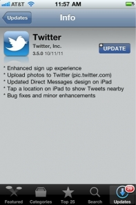 Twitter Application For iPhone border=