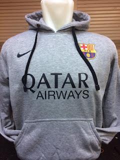 desain gambar terbaru musim depan di enkosa sport Jaket hoodie Barcelona abu-abu terbaru 2015/2016 gambar photo di enkosa sport
