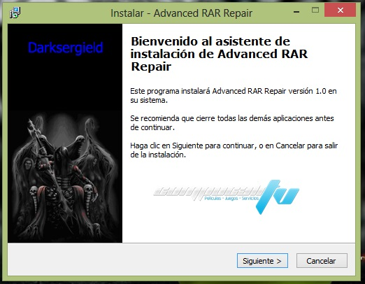 Advance RAR Repair 1.2 Programa para Reparar Partes