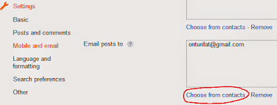 Select people to send new blog posts
