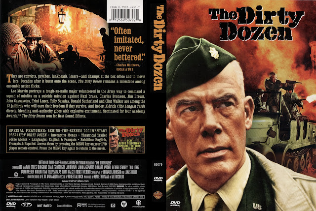 DVD cover front and back The Dirty Dozen movieloversreviews.filminspector.com