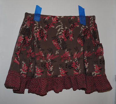 elastic waist skirt with pockets