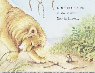 GoodBooksforKids image from Gail Hermans Lion and Mouse book
