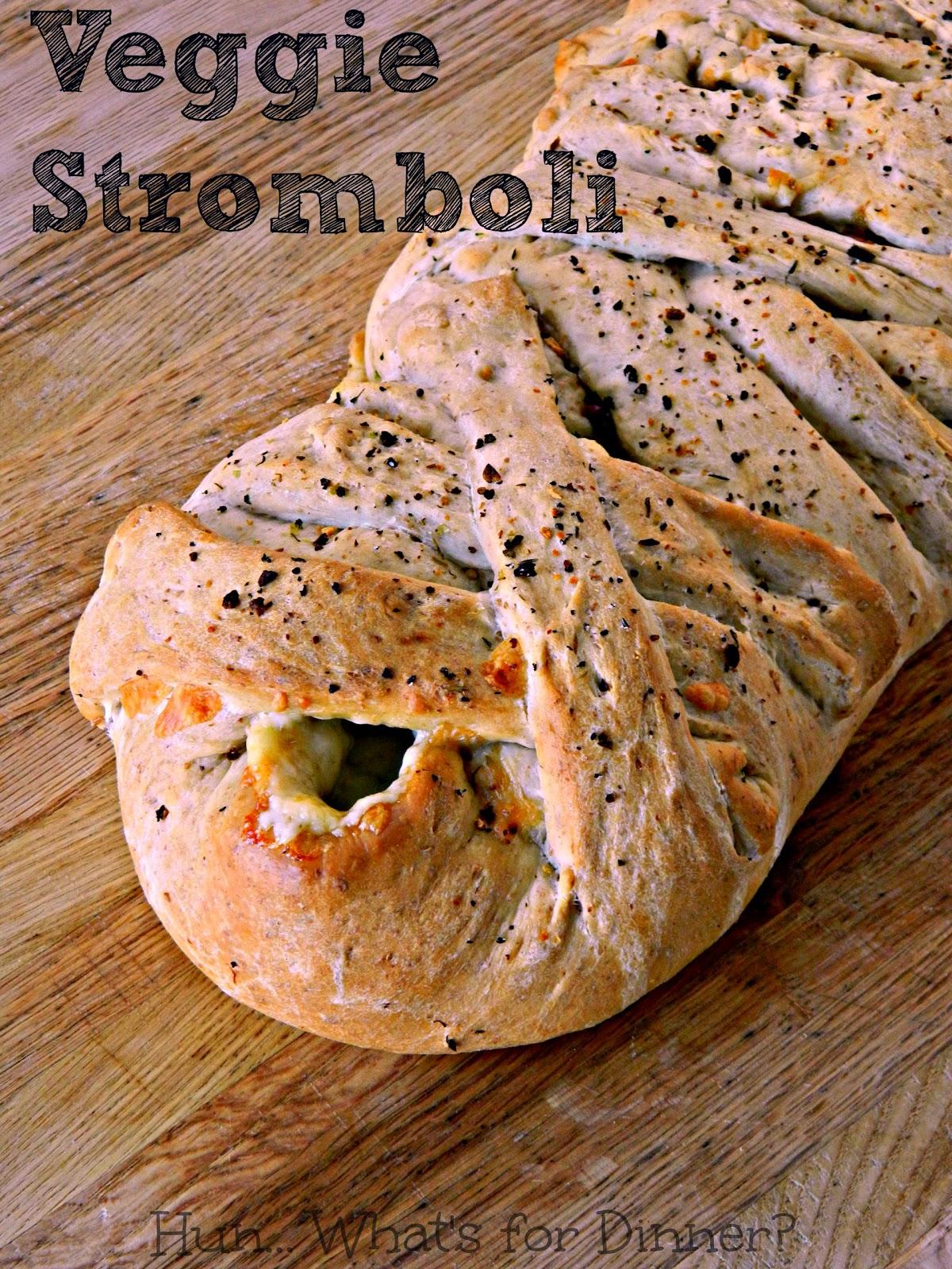 Braided Veggie Stromboli