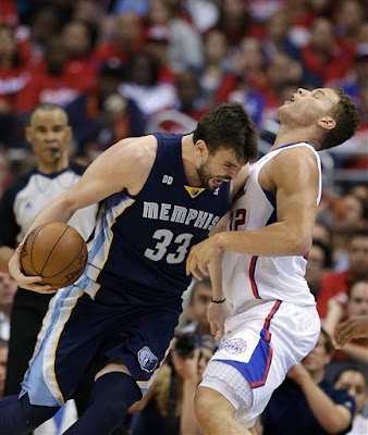 Marc Gasol against Blake Griffin