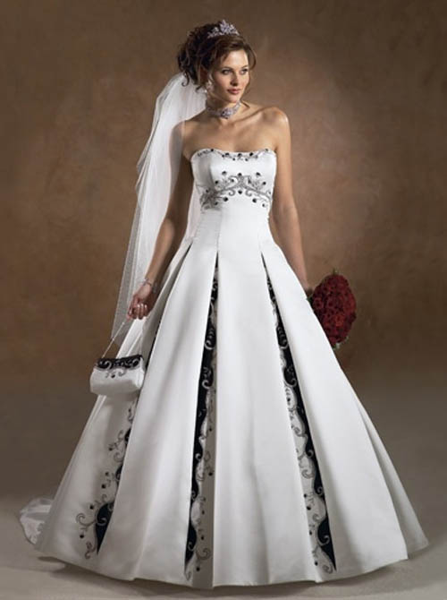 Beautiful Strapless Wedding Gowns