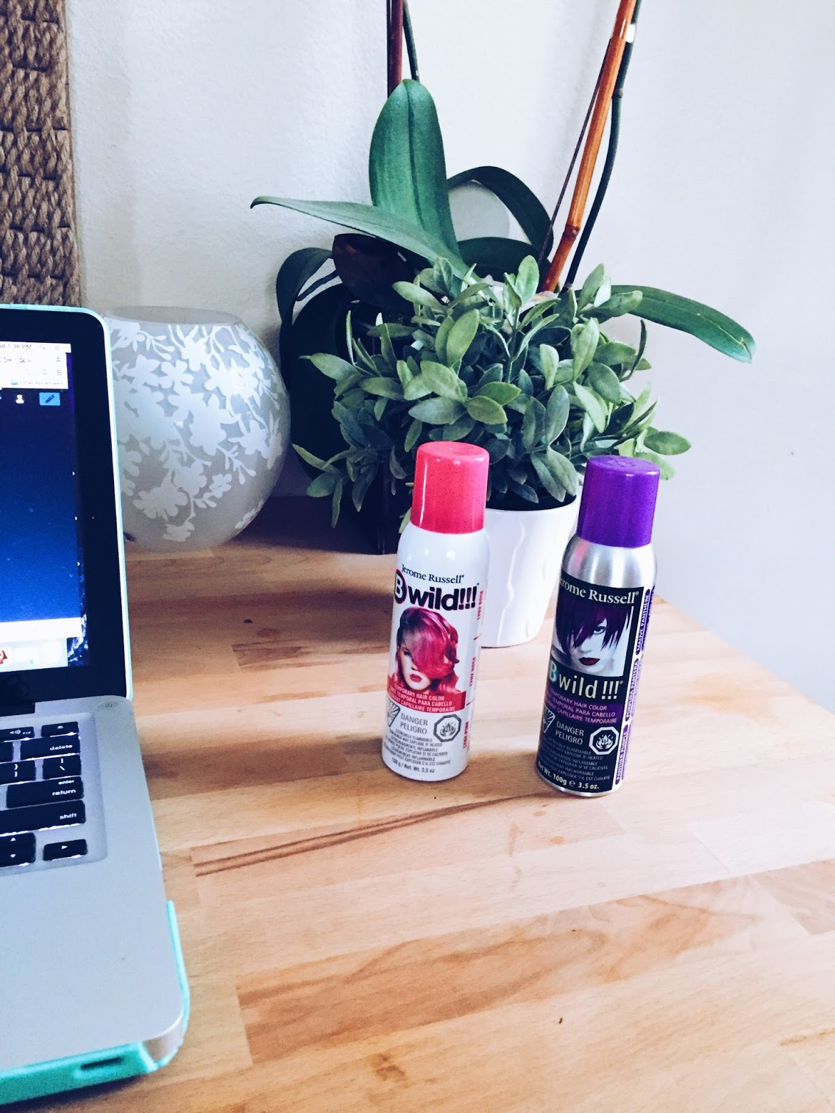 Pink and Purple Hair Color Spray