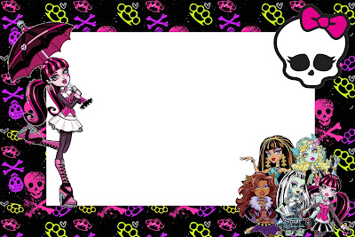 Monster High Free Printable Party Invitations – Monster High Birthday Invites