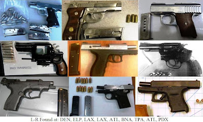 9 loaded guns. 