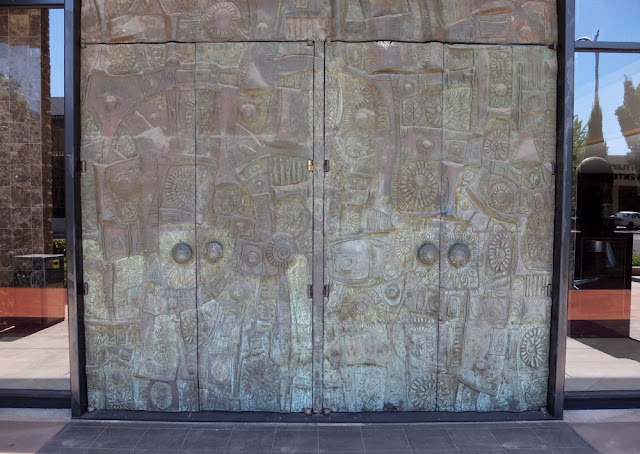Stan Bitters cast bronze doors entrance to the Soroyan Theater Fesno & Stan Bitters / Fresno
